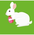 Easter cartoon rabbit with painted egg vector image vector image