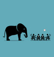 elephant in the room artwork depicts the concept vector image vector image
