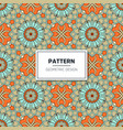 ethnic floral seamless pattern with mandalas vector image vector image