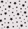five-pointed stars seamless pattern vector image vector image