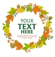 Floral wreath of autumn leaves vector image