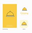 food dish company logo app icon and splash page vector image