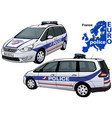 france police car vector image vector image