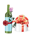 gift and bottle vector image vector image