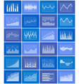 graph collection poster set vector image vector image