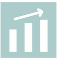 growth chart the white color icon vector image vector image