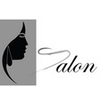 hair salon advertisement - stylish woman profile vector image vector image