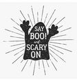 Halloween typography label template vector image