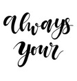 hand drawn lettering phrase on the vector image