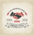 handshake business logo concept vector image