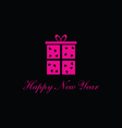 happy new year box vector image