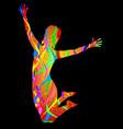 happy party jump vector image vector image
