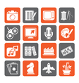 Hobbies and leisure Icons vector image vector image