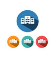 hospital icon with shadow on colored circles vector image vector image