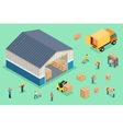 Isometric delivery and logistics vector image vector image