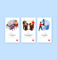 isometric voting vertical banners vector image vector image