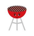 kawaii barbecue grill vector image vector image