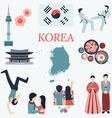 Korea design elements vector image vector image