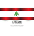 lebanon flag banner with text on white vector image vector image