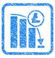 litecoin panic falling chart framed stamp vector image vector image