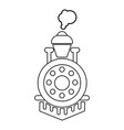 locomotive icon outline style vector image vector image