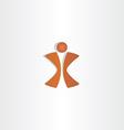 man letter x logo design vector image vector image