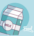 milk box drink product vector image