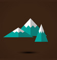 mountains logo template vector image vector image