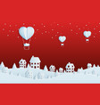 paper art concept of christmas with balloon vector image vector image