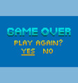 pixel game finish level yes and no final vector image vector image