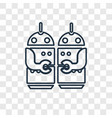 robots concept linear icon isolated on vector image vector image