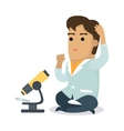 Scientist with Microscope vector image vector image
