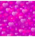 Seamless pattern with fuzzy hearts on purple vector image vector image