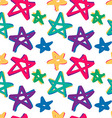 seamless stars pattern in retro color vector image vector image