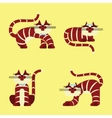 Set of isolated character cats vector image vector image