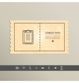 Simple pixel icon paper holder design vector image