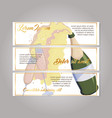 sparkled wine and toasting glasses leaflet set vector image