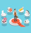 successful multitasking entrepreneur effective vector image