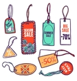 Tags Color Set vector image