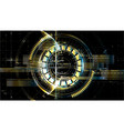 technological space metallic middle hud display vector image vector image