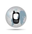 technology cellphone smartphone social media vector image vector image