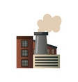 the building of an industrial manufactory plant vector image