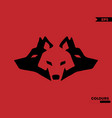 three wolfs logo vector image