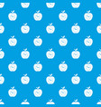 time apple pattern seamless blue vector image vector image