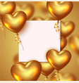 valentines day romantic background or wedding vector image