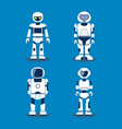 variety futuristic robots set vector image vector image