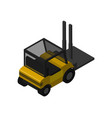 warehouse forklift truck isometric icon vector image vector image