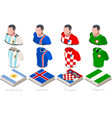 world cup group d jersey set vector image vector image