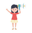young woman with megaphone marketing concept vector image