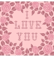 Vintage card for Valentines Day vector image